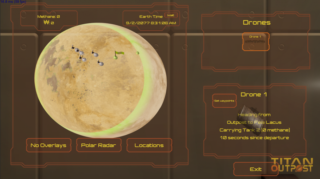 Map of Titan