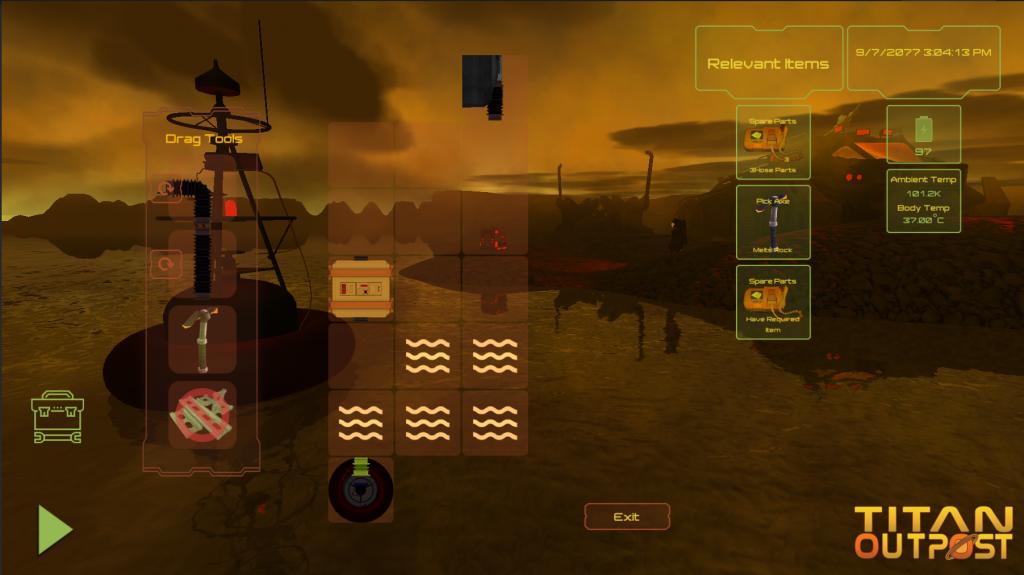 Titan Outpost Methane Setup