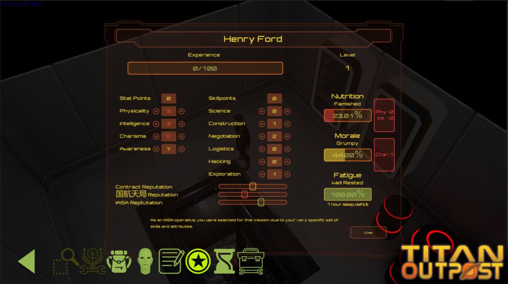Tittan Outpost Character Sheet